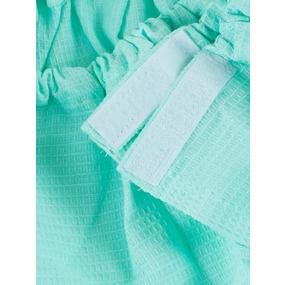 Вафельная накидка на резинке для бани и сауны женская цвет ментол фото
