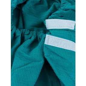 Вафельная накидка на резинке для бани и сауны мужская цвет бирюза фото