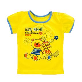 Футболка трикотаж для девочек Good night рукав короткий 122-128 см фото