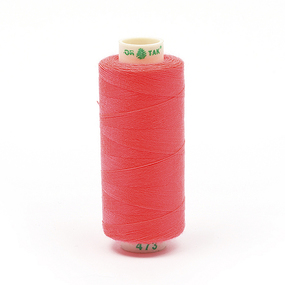 Нитки бытовые Dor Tak 40/2 366м 100% п/э, цв.473 розовый фото