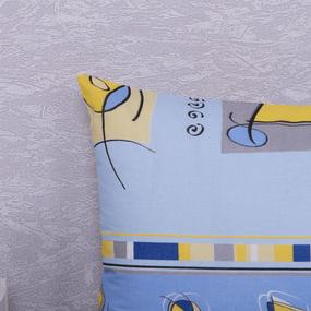 Наволочка Бязь 116/1 Гимнастика голубой в упаковке 2 шт 50/70 см фото