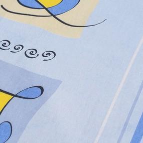 Комплект простыня 1.5 сп + 1 нав. 70/70 бязь 116/1 Гимнастика цвет голубой фото