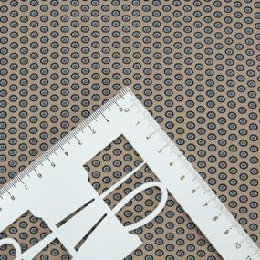 Ткань на отрез супер софт 2416 Горох на бежевом фото