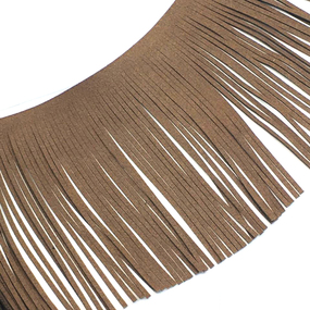 Бахрома декоративная и замша 14,5см коричневый 2156 уп 10 м фото