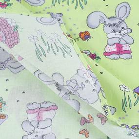 Набор детских пеленок бязь 4 шт 90/120 см 1304/3 Лесная сказка цвет зеленый фото