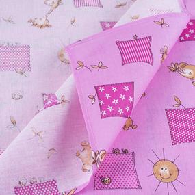 Набор детских пеленок бязь 4 шт 90/120 см 366/3 Жирафики цвет розовый фото