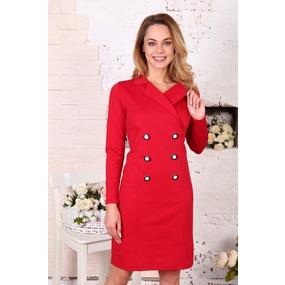 Платье Пиджак красное Д507 р 54 фото