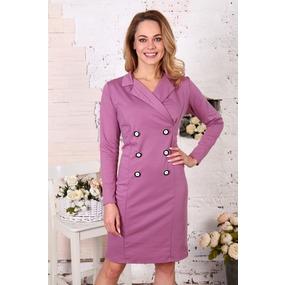 Платье Пиджак брусничное Д507 р 42 фото