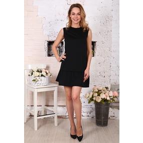 Платье Валерия без рукава черное Д508 р 42 фото