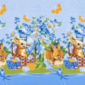 Набор вафельных полотенец 3 шт 50/60 см 191601 Пасхальный кролик фото