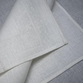 Весовой лоскут Салфетка полулен отбеленный рисунок 0,45 / 0,45 м по 1 кг фото