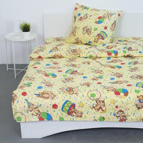 Детское постельное белье из поплина 1.5 сп 1615/2 цвет бежевый фото