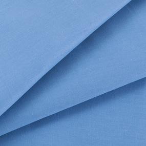 Ткань на отрез сатин гладкокрашеный 245 см 15-3920 цвет голубой фото