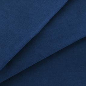 Ткань на отрез сатин гладкокрашеный 250 см 19-4026 цвет синий океан фото