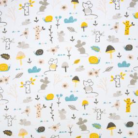 Ткань на отрез бязь плательная 150 см 013 Мышата в лесу фото
