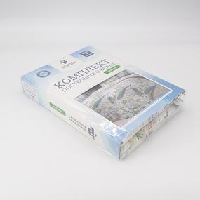 Постельное белье из перкаля 6580/1 Павлины Евро фото