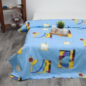 Пододеяльник из бязи 751/2 Графика цвет голубой, 1,5 спальный фото