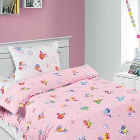 Детское постельное белье 5030/1 Бусинка розовый 1.5 сп поплин фото