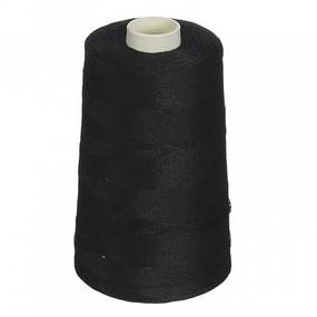 Нитки швейные 70ЛЛ 2500м цвет 6818 черный фото