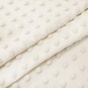 Мерный лоскут Плюш Минки Китай 180 см/90 см цвет молочный фото