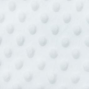 Мерный лоскут Плюш Минки Китай 180 см/70 см цвет белый фото