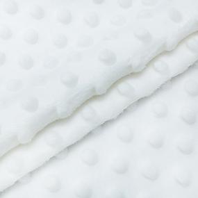 Мерный лоскут Плюш Минки Китай 180 см/90 см цвет белый фото