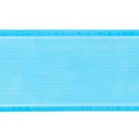 Лента для бантов ширина 80 мм цвет бирюзовый 1 метр фото