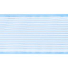 Лента для бантов ширина 80 мм цвет голубой 1 метр фото