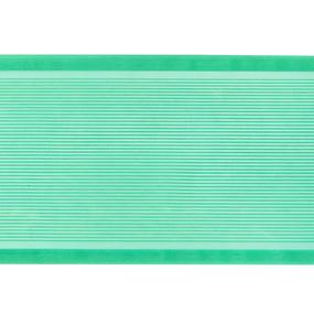 Лента для бантов ширина 80 мм цвет зеленый 1 метр фото