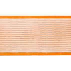 Лента для бантов ширина 80 мм цвет оранжевый 1 метр фото