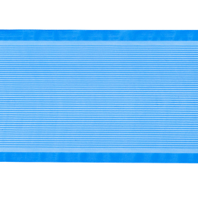 Лента для бантов ширина 80 мм цвет синий 1 метр фото