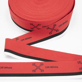 Тесьма белый черный красный Off-Whtie 3,5см 1 метр фото