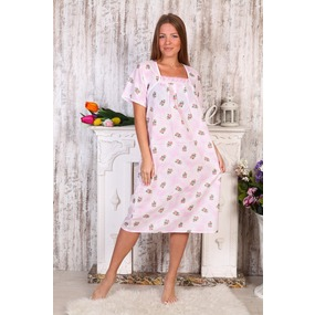 Сорочка Цветы На Розовом А40 р 54 фото