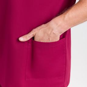 Костюм Хирург рукав короткий бязь ГОСТ цвет бордо 64-66 рост 182-188 фото