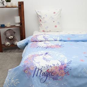 Детское постельное белье из бязи 1.5 сп 3025-1 Единорог фото