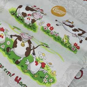 Набор полотенц рогожка 3 шт 50/60 см 11807/1 Счастье есть фото