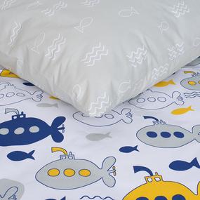 Детское постельное белье из поплина 1.5 сп 28319/1 Морской бой фото