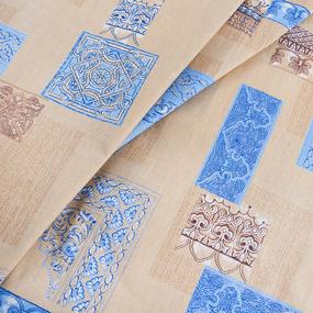 Ткань на отрез бязь о/м ГОСТ 150 см 356/2 Арабеска цвет бежевый фото