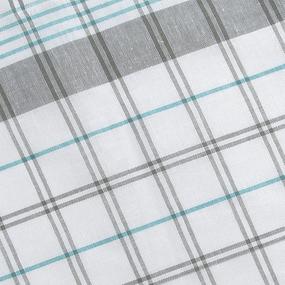 Полулен полотенечный 50 см 3/85/10 Клетка лавр бирюза 113358 фото