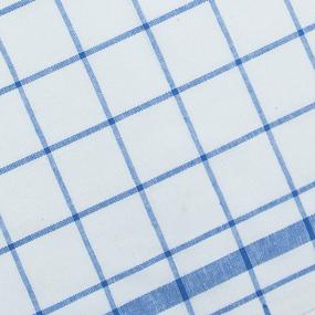 Полулен полотенечный 50 см 3/40/1 Клетка цвет синий 113358 фото