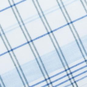 Полулен полотенечный 50 см 3/85/7 Клетка синий голубой 113358 фото