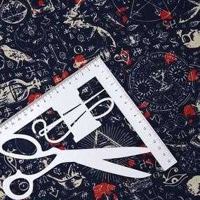 Ткань на отрез кулирка R3344-V1 Ритуал фото