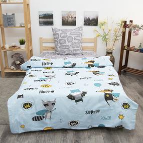 Детское постельное белье из бязи 1.5 сп 3076-1 Супергерои фото