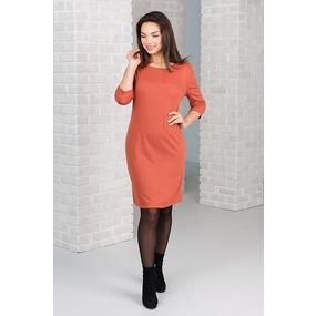 Платье 0119-51 цвет Терракотовый р 56 фото