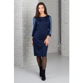 Платье 0260 цвет Темно-синий р 44 фото