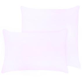 Наволочка на молнии Трикотаж цвет розовый 50/70 фото