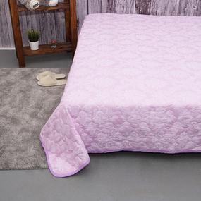 Покрывало стеганое Агат (розовый) 10333/3 пудра 150/210 фото