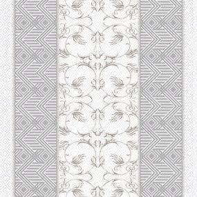 Ткань на отрез дорожка 50 см 5475/1 Вензель цвет серый фото