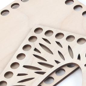 Заготовка из фанеры для вязания салфетницы CA1 23/12 см фото