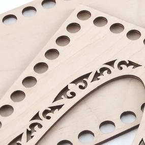 Заготовка из фанеры для вязания салфетницы CA2 23/12 см фото